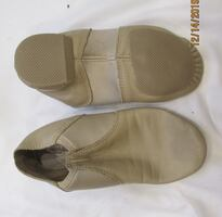 Tan youth Jazz Slip-on shoes