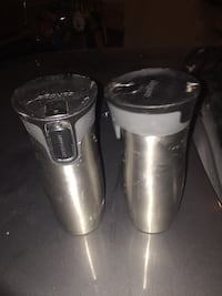 Contego Mugs and Two tall stainless steel mugs