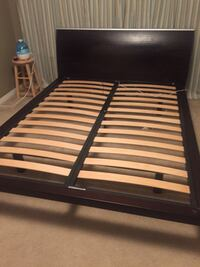 Queen bed frame + two side tables Mississauga, L5N 8A8