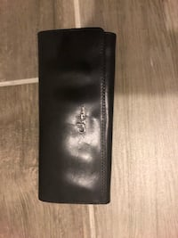 Cole Hahn. Black leather clutch