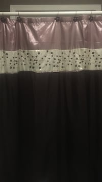 Black White And Gray Leather Shower Curtain
