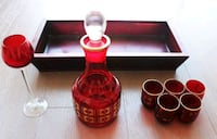 Antique Glass Liquor Set Toronto, M5V 0G6