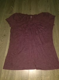 women's maroon scoop-neck shirt Regina, S4S