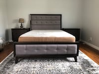 Upholstered bed frame. Only a month old Carson, 90745