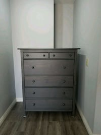 grey wooden 5-drawer tallboy dresser Monterey Park, 91755
