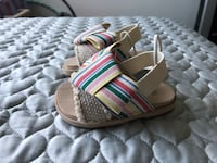 Pair of new gray-and-pink ZARA sandals London, N5Y 6H7