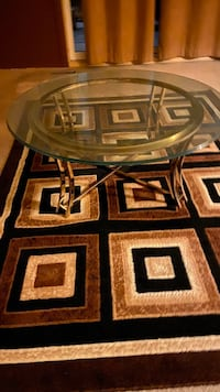 Two glass tables