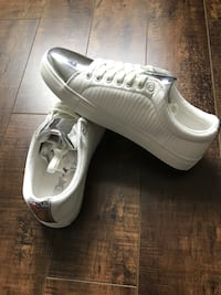 Brand new with box Pair of white low-top sneakers