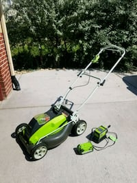 Greenworks Mower and Trimmer w/ two 40v Batteries Westminster, 80030