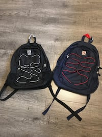 two black and red backpacks Mississauga, L5C 1M5