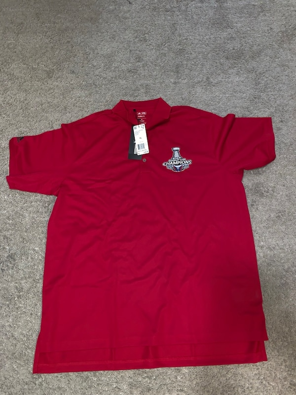 Capitals adidas golf polo