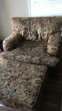 brown and green floral fabric sofa chair Wilmington, 28403