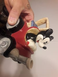 Mickey Mouse riding red ceramic kettle Spanaway, 98387