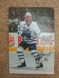 autographed player picture Brampton