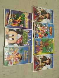 seven assorted VHS Tapes