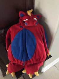 Dragon costume size 12 - 24 months