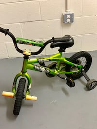 toddler's green and black bicycle with training wheels Washington, 20024