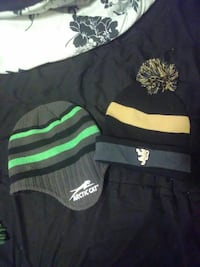 two knitted stripes beanie caps