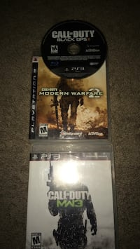 PS3 Call of Duty Black Ops 2, MW2, and MW3. 837 mi