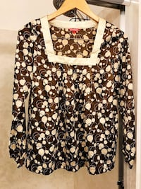 New Long sleeve women silk like top blouse size 34 Milpitas