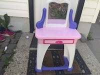 pink and purple plastic vanity table Calgary, T2J 0Z3