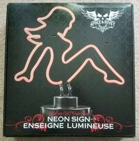 Spike and Rivet Mudflap Girl Neon Sign West Chester