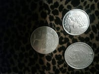 three round silver commemorative coins Toronto, M4M