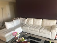 White leather sectional couch Silver Spring, 20901