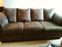 brown leather 3-seat sofa Winnipeg, R2M 3N4