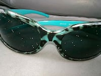 black and green framed sunglasses South Point