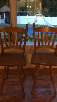 two brown wooden windsor chairs East Setauket, 11733