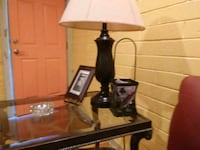 black and white table lamp Denison, 75020
