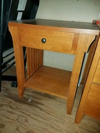 brown wooden single-drawer end table San Diego, 92105