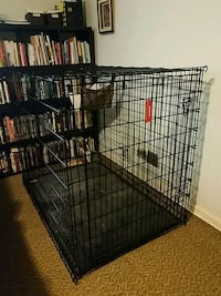 Large Black Metal Folding Dog Crate Silver Spring, 20901
