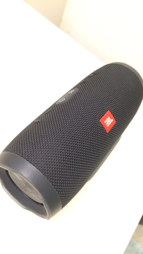 black JBL portable bluetooth speaker