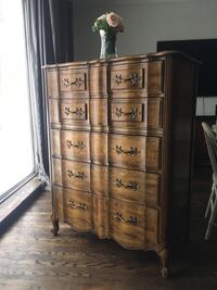 Delivery - antique French country tallboy dresser Toronto, M9B 3C6