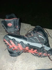 black-and-red hiking shoes Otley, 50214