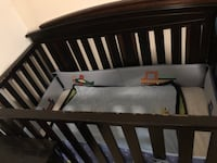 baby's brown wooden crib Leto, 33614
