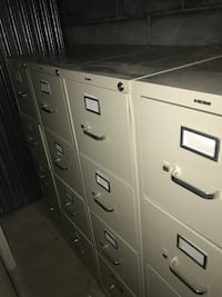 """15 x 25 x 52"""" 4 stack tan file cabinets for sale. Near brand new condition! Five for sale at $65 dollars each, if you buy an aditional unit it brings the price down to $50 per unit.  Leesburg, 20176"""