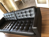 Tufted black leather sofa - price dropped West Vancouver, V7S 2C8