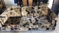 gray and black camouflage print sofa chair Los Angeles, 91343