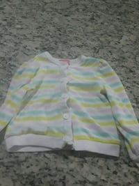 toddler's white, green, and yellow striped sweater Orlando, 32824