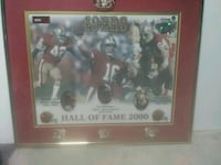 49ers Hall of Fame 2000 plaque.