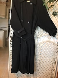 Navy/Blackish ladies trench coat. Size 10 Dolton, 60419