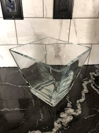 Glass Bowl with Decorative Accent Rocks Regina