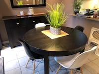 Round brown wooden table (no chairs) Mississauga, L5E