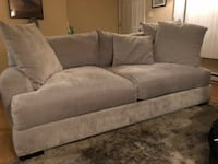 Stella Sofa by Z Gallerie in Opulent Polar - Couch Edmonds