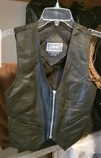Ladies Leather Vest  Brick, 08724