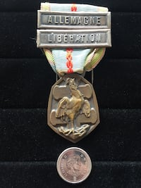 France WW2 Commemorative Medal with Clasps Toronto, M4V 2C1