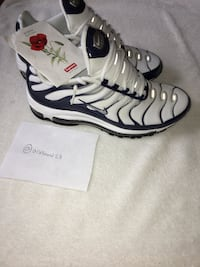 "Nike airmax 97+ ""silver shark"" with supreme poppy seeds 40 mi"